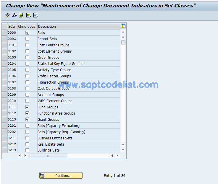 GSCD SAP Tcode : Activate change documents Transaction Code